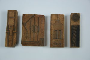 RAMM Victorian woodcut printing blocks 7 from ironmongers at 161 Sidwell St - Ref. Royal Albert Memorial Museum and Art Gallery, Exeter