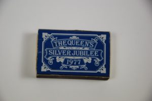 silver jubilee artefact, found outside the graveyard in 1977