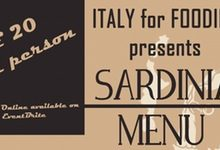 Friday April 7th: Italian evening – A Taste of Sardinia