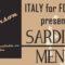 Friday April 7th: Italian evening – A Taste of Sardinia