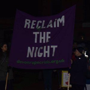reclaim the night banner