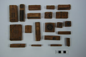RAMM Victorian woodcut printing blocks 1 from ironmongers at 161 Sidwell St - Ref. Royal Albert Memorial Museum and Art Gallery, Exeter