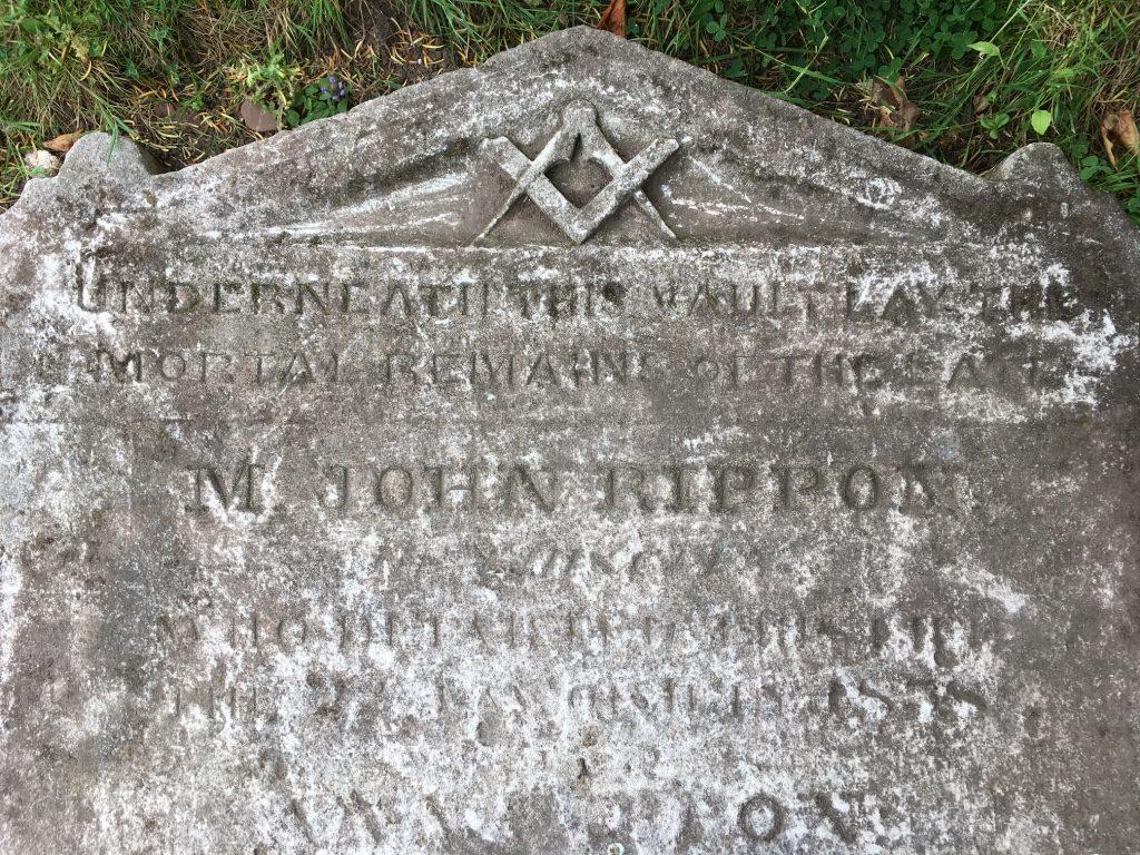 M. John Rippon memorial stone 1