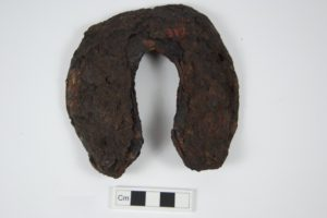 rusted horseshoe, possibly from 1800's