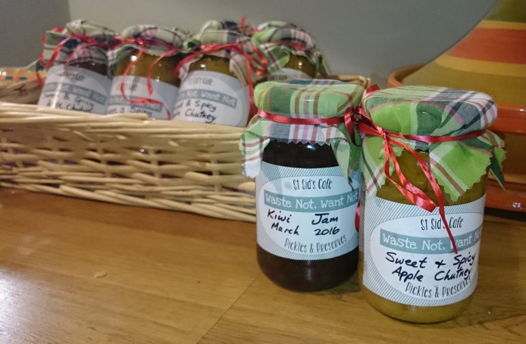 pickles made to sell in the centre
